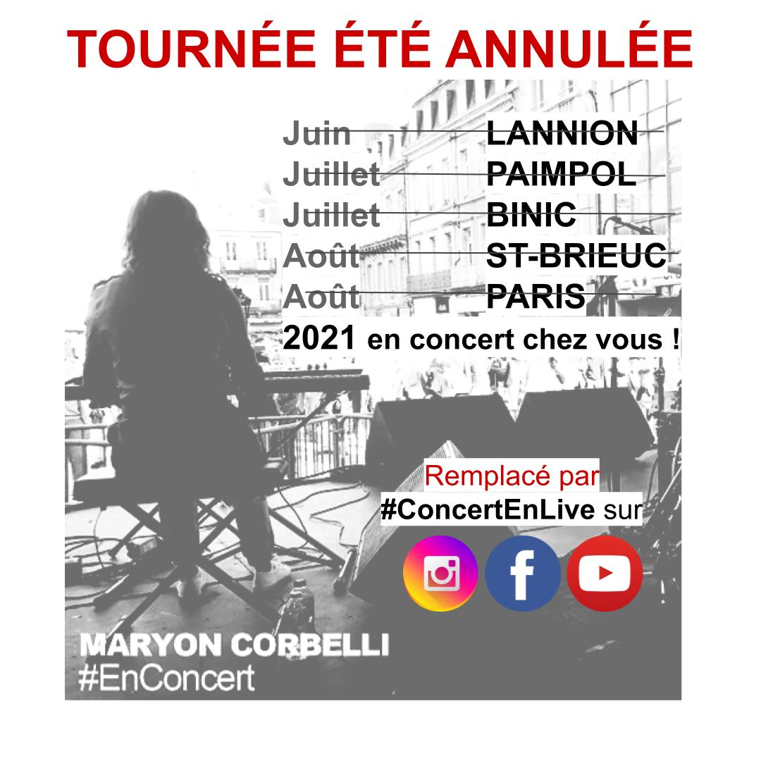 tournée d'été 2020 annulée - Maryon Corbelli