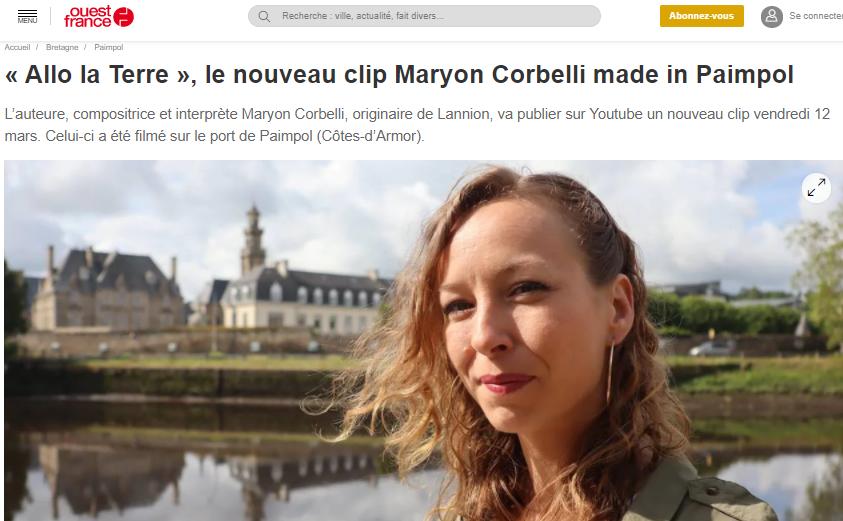 Maryon Corbelli - Ouest-France - Allo la terre